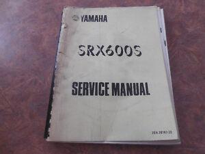 Yamaha SRX600S service manual