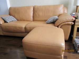 Urgent SALE:New Leather Couch,Wooden 3-Chairs,Dishes,Lamp,Plants