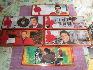 Selection of 6 Stovers Elvis Collector's Tins - Like New