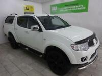 White Mitsubishi L200 Barbarian 2.5DI-D CR EU V 4WD LB **FROM £260 PER MONTH**