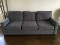 Pottery Barn BUCHANAN SQUARE ARM UPHOLSTERED GRAND SOFA $2,200