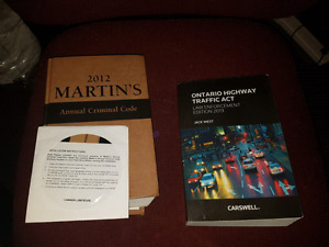 Criminal code and traffic act books