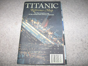 "Titanic Reference Map-39"" x 26"" Hedberg Maps"