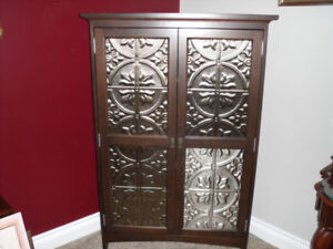 Solid Cherry custom made corner unit with reversible front panel