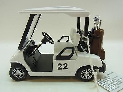 22050 | Golfcart Caddy 1:18 m. Antrieb Golfcar Golf Club Geschenk für Golfer NEU