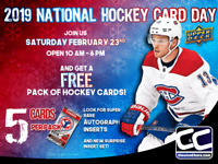 National Hockey Card Day, Free Pack of Cards Family Event