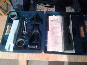 Drill press hollow chisel mortiser attachmemt and bits