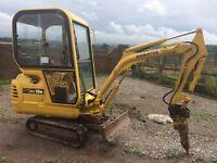 Mini digger hire, footings, drainage, Civils