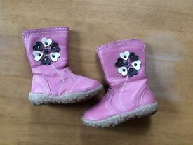 As new girls pink boots size 4