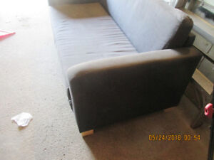 Ikea Solsta bed sofa with black slipcover