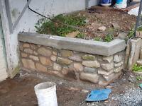 Brick and stone repair.