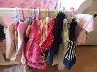 0-3 baby bundle including jacket, feather trim poncho & new with tags jumper.