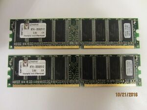 Kingston KTH-D530/512 2.6V Matched Pair RAM