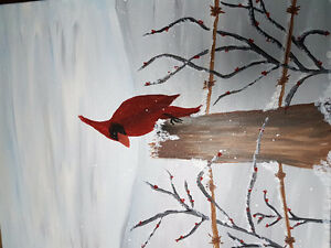 Cardinal Acryllic Paintings