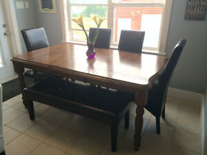 Beautiful Solid Wood Table Set