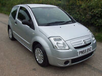 2005 55 Plate Citroen C2 1.1 In Silver , Only 53,000 Miles , Ideal First Car !!
