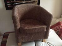 Dunelm Chenille Fabric Tub Chair