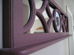 Decorative Mirror with Stained Glass