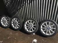 "Mercedes A B C Class 17"" Alloy wheels and tyres"