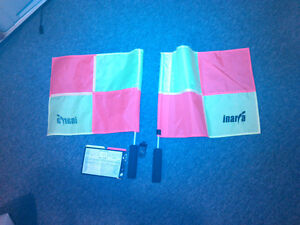 Soccer Referee or Linesman Flags and score kit