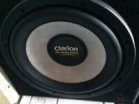 """12"""" Clarion Pro Audio Subwoofer and boxing"""