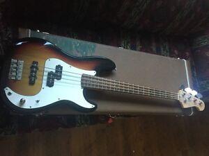 P Bass copy Precision Bass with Jazz bass bridge pickup