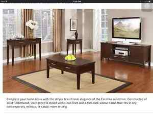 Carolina coffee table.  Brand new in box.  Unassembled.  Bought