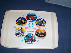 VINTAGE MAN & HIS WORLD-TERRE DES HOMMES SERVING TRAY-ANCHOR