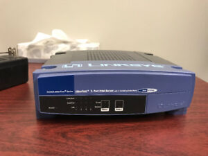 Linksys-Cisco 2-Port Switched EtherFast 10/100 Printer Server