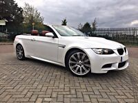 2011 BMW M3 4.0 DCT Convertible Mineral White Red Leather FBMWSH