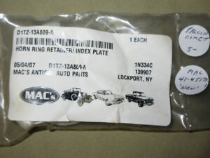 1965 FORD MERCURY MUSTANG HORN RING RETAINER #D1TZ-13A809-A