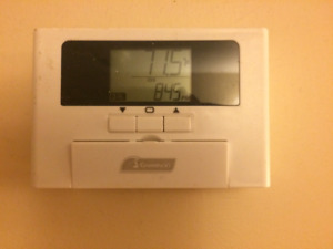 Garrison programmable thermostats.