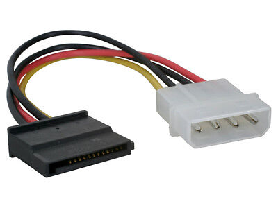 Cable alimentacion adaptador 1 macho IDE a 1 hembra SATA disco duro...