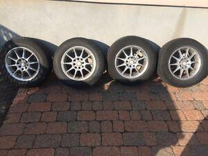 4 mags civic 4x100 pneus finis