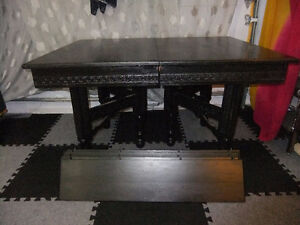 Antique Dining Room Table - Black