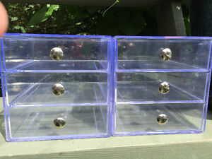Acrylic 3 Drawer Organizers - $15 each