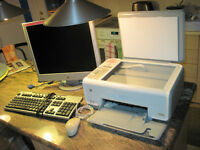 """HP Monitor 19"""" Flat-Panel LCD Monitor, HP Printer all-in-one"""