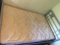 4ft 6 Bed frame and mattress