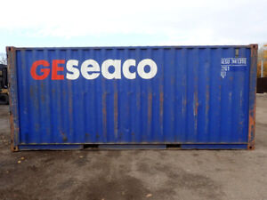 """$2,800 for 20'L X 8' H X 8.6""""W Containers New paint, wind & wate"""