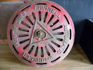 Antique Grinnell Cast Iron Fire Alarm Sprinker System