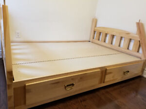 Solid Birch double bed!