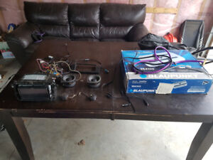 Alpine Double Din Stereo + Blaupunkt 700W Amp + additional equip