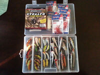 120.00 O.B.O.  36 LURES FOR SALE 27 REBELS 9 RAPALAS PLUS EXTRAS