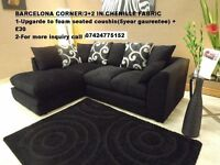 Barcelona chenille Corner or 3+2 seater**Brand New**Express delivery**Made In Uk**
