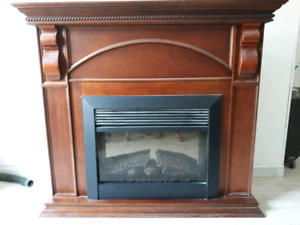 Cheap working electric fireplace!