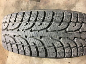 6 Bolt GMC/CHEV/GMC Hankook I Pike  New Snow Tires & Chrome Rims