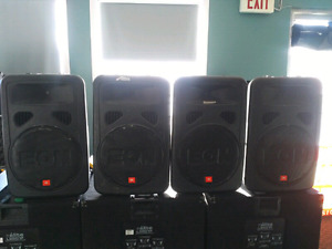 Speakers and Bass Bins