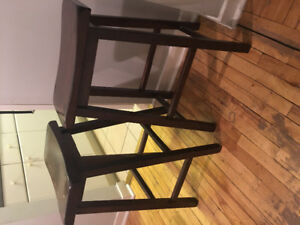 (price reduced) WOOD BAR STOOLS