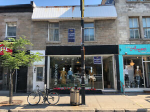 Mont Royal East Retail Space Available Now! With Basement!!
