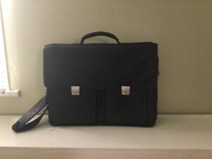 Black leather briefcase (Daniel Leather)